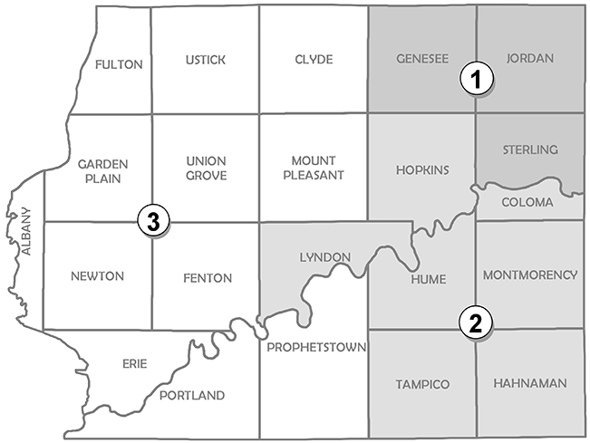 Whiteside County Board districts